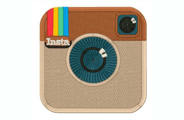 Motif Bordir Logo Instagram