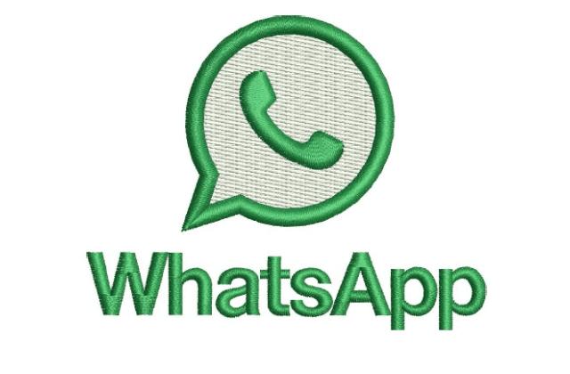 Motif Bordir Logo Whatsapp