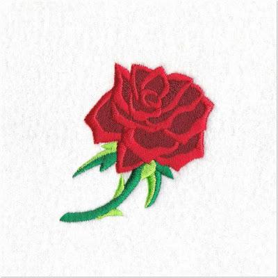 Motif Bordir Bunga Mawar