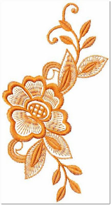 Contoh Gambar bordir bunga besar
