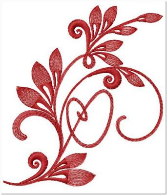 Contoh Gambar pola bordir bunga