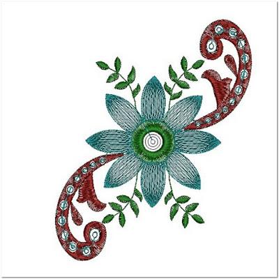 Gambar bunga untuk bordiran gamis