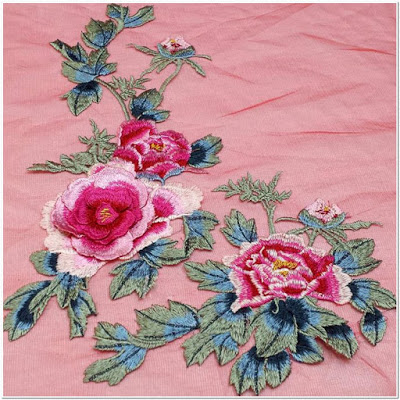 Gambar motif bordir bunga melati