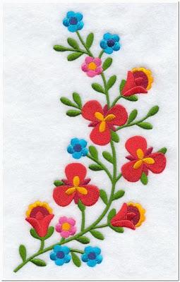 Contoh gambar bordir bunga kecil