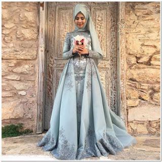 Gaun Pesta Muslimah Elegan Masa Kini