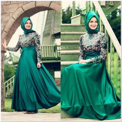Gaun Pesta Muslimah Cantik