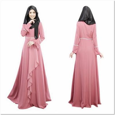 Gaun Pesta Muslimah Warna Pink
