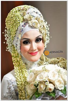 Model Hijab Pengantin Untuk Wajah Tembem