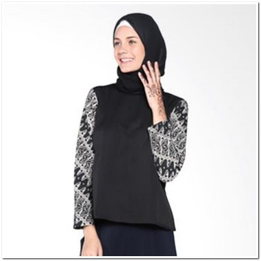 Contoh Model Atasan Batik Wanita Muslim Terbaru