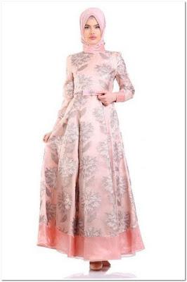 Baju Pesta Renda Terbaru Kombinasi Warna Pink
