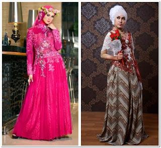 Baju Pesta Renda Panjang Muslimah Modern
