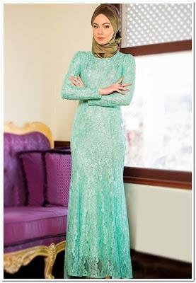 Baju Pesta Renda Muslimah