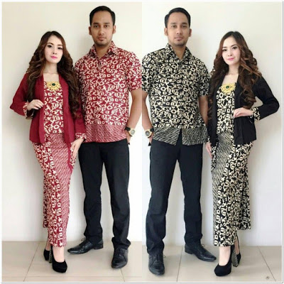 Model Kebaya Kutubaru Couple Batik Modern