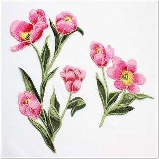 Contoh Bordir Bunga Tulip