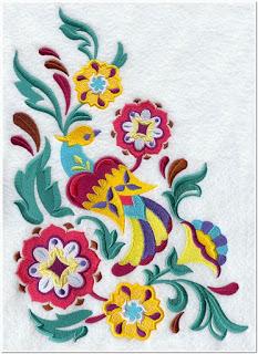 Motif Bordir Pinggiran Gambar Tulip