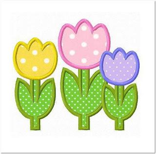 Motif Bunga Tulip Cantik
