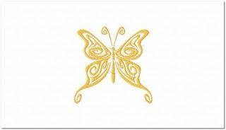 Motif Bordir Gambar Kupu-kupu