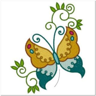Bordir Kupu-kupu Cantik