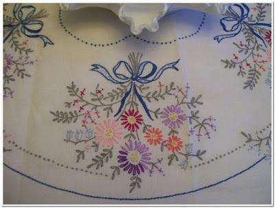 Contoh Gambar motif bordir taplak meja