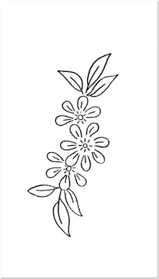 Motif bordir bunga kecil