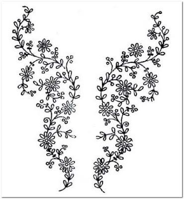 Motif Terbaru Gambar Bordiran Bunga Kecil