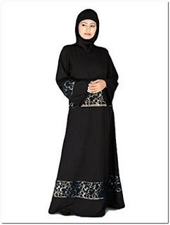 Baju gamis modern warna hitam