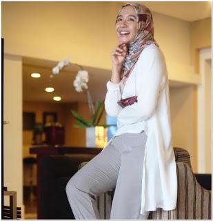 Gaya busana hijab laudya chintya bella