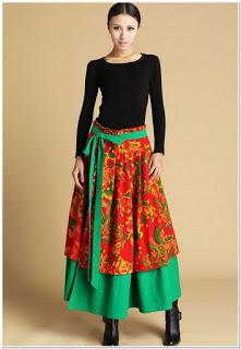 dress motif bunga bahan katun