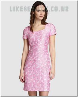 dress motif bunga pendek