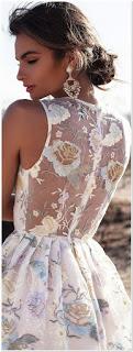 dress motif bunga terbaru