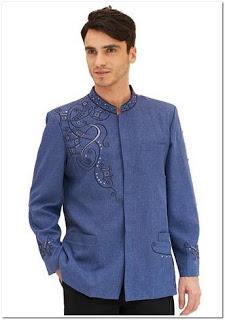 Contoh Model bordir baju melayu pria