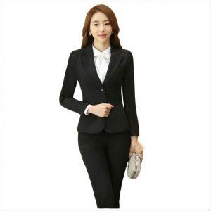 Baju kerja wanita blazer lengan panjang