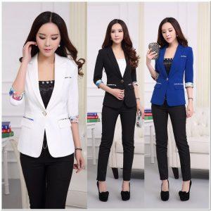 Baju kerja wanita blazer simple 2018
