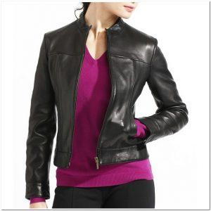 Contoh Model jaket kulit wanita modern