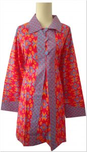 Gambar baju atasan batik untuk orang gemuk warna cerah