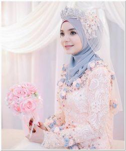 Contoh Jilbab pengantin muslim modern 2018