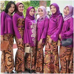 Inspirasi Kebaya batik muslim untuk pesta