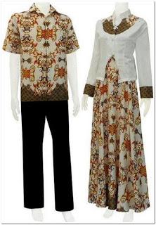 Gamis kombinasi batik dan blazer