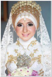 Aneka Kreasi jilbab pengantin muslimah modern