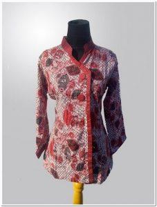 Model desain baju batik kerja atasan terbaru
