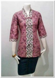 Model baju batik kerja tunik