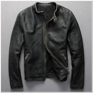model jaket kulit simple