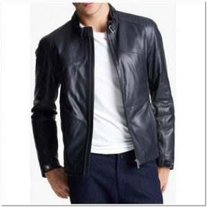 jaket kulit model simple