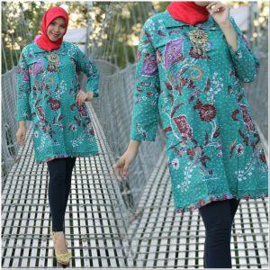 Contoh Model baju batik cantik atasan dan bawahan