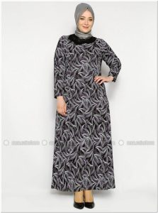 Model baju batik gamis untuk wanita gemuk