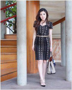 Model baju batik modern dress elegan