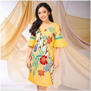 Model baju batik modern untuk wanita gemuk