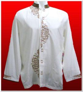 Model baju koko putih lengan panjang