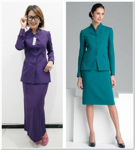 Model baju seragam guru keren modis