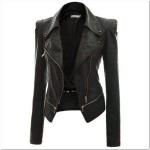 Model jaket kulit wanita potongan panjang